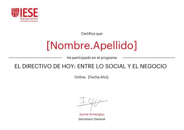 El directivo de hoy | Certificado Programa Enfocado Online | IESE Business School