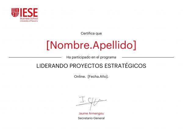 Liderando proyectos estratégicos | Certificado Programa Enfocado Online | IESE Business School